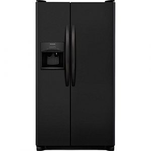 Frigidaire FFSS2615TE 36 Inch Side by Side Refrigerator with 25.5 cu. ft. Capacity, External Water Dispenser, Ice Maker, in Ebony – Each