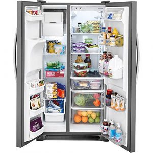 Frigidaire FFSS2615TS 36 Inch Side by Side Refrigerator with 25.5 cu. ft. Capacity, External Water Dispenser, Ice Maker, in Stainless Steel – Each