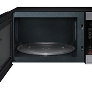 Samsung – MG11H2020CT 1.1 cu. ft. Countertop Grill Microwave Oven with Ceramic Enamel Interior, Black – Each
